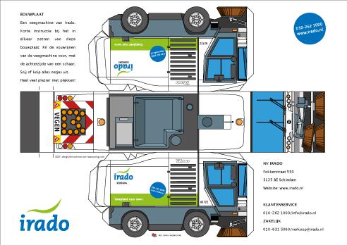 Yorlogo 174 Bouwplaat Veegwagen