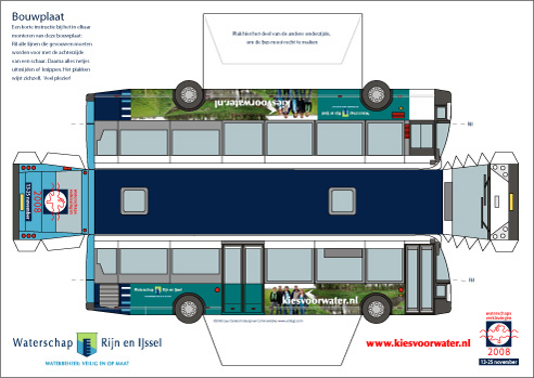 Yorlogo Bouwplaat Bus Op A3 Formaat