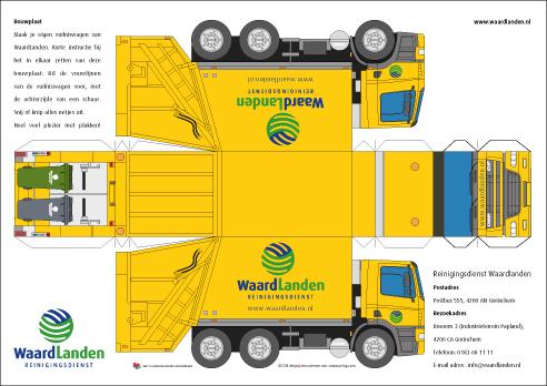 yorlogo174 bouwplaat vuilniswagen nieuw